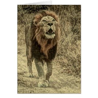 Lion roar card