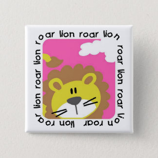 Lion Roar Tshirts and Gifts 2 Inch Square Button
