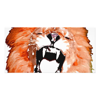 Lion Roaring Photo Card Template
