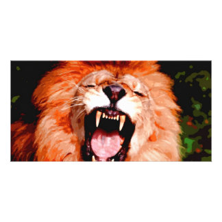 Lion Roaring Personalized Photo Card