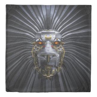 Lion Robot (2 sides) Queen Duvet Cover