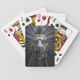 Lion Robot Playing Cards