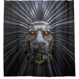 Lion Robot Shower Curtain