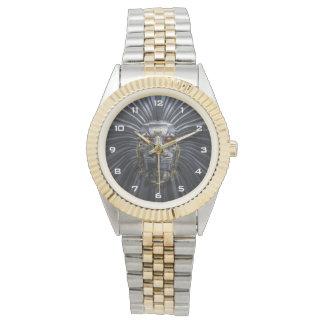 Lion Robot Two-Tone Bracelet Watch