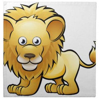 Lion Safari Animals Cartoon Character Napkin