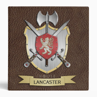 Lion Sigil Battle Crest Brown 3 Ring Binder