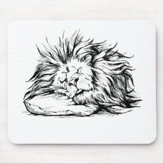Lion-sleeping Mouse Pad