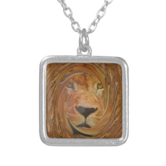 Lion smile silver plated necklace