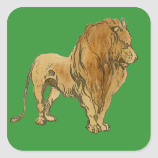 Lion Square Sticker