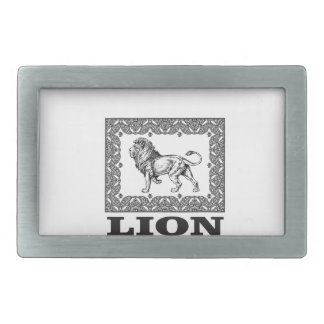 lion stamp belt buckle