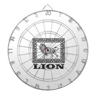 lion stamp dartboard
