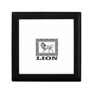 lion stamp gift box