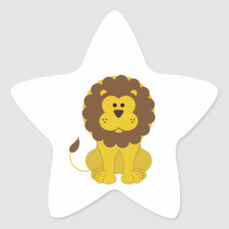 Lion Star Sticker