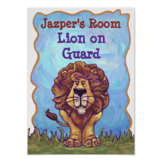 Lion Stationery Poster