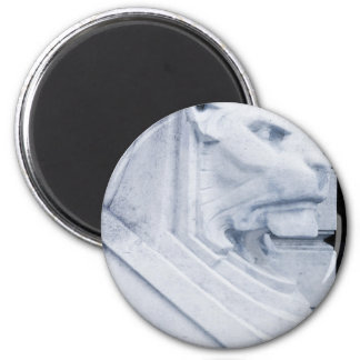Lion statue in Nottingham 2 Inch Round Magnet