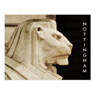 Lion statue in Nottingham Postcard