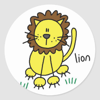 Lion Stick Figure Stickers Sticker