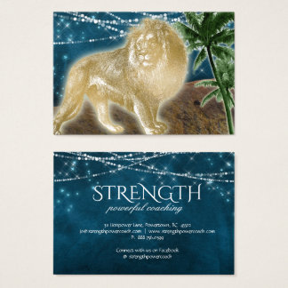 Lion Strength Power Rock Coaching Fitness Animal Business Card