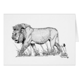 Lion Study Father's Day Card