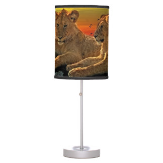 Lion Style Table Lamp