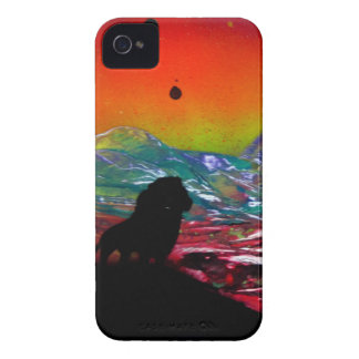 Lion Sunset Landscape Spray Paint Art Painting iPhone 4 Case-Mate Case