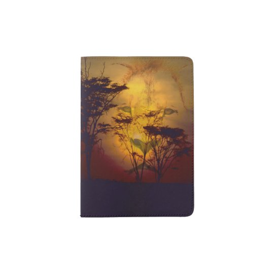 Lion Sunset Passport Holder