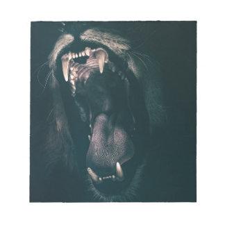 Lion Teeth Roar Fear Angry Roaring Strength Notepad