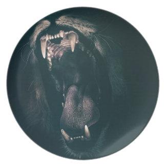 Lion Teeth Roar Fear Angry Roaring Strength Plate