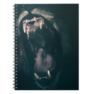 Lion Teeth Roar Fear Angry Roaring Strength Spiral Notebook