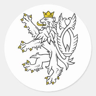 Lion theech Republic, Czech Classic Round Sticker