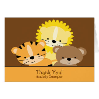 Lion, Tiger & Bear Thank You Note Card