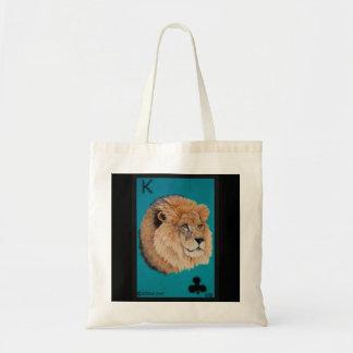 Lion Tote Bag by Elizabeth Black