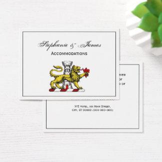 Lion Tower Fleur de Lis Crest Emblem C Business Card