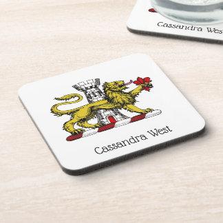 Lion Tower Fleur de Lis Crest Emblem C Coaster