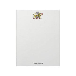 Lion Tower Fleur de Lis Crest Emblem C Notepad