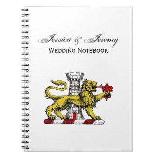 Lion Tower Fleur de Lis Crest Emblem C Spiral Notebook