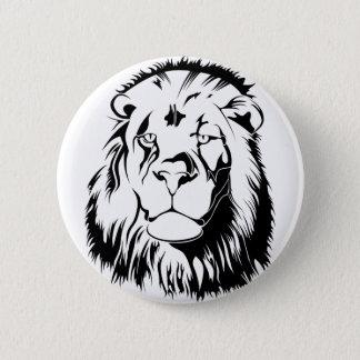Lion Tribal 002 2 Inch Round Button