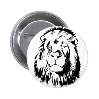 Lion Tribal 002 2 Inch Round Button