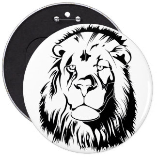 Lion Tribal 002 6 Inch Round Button