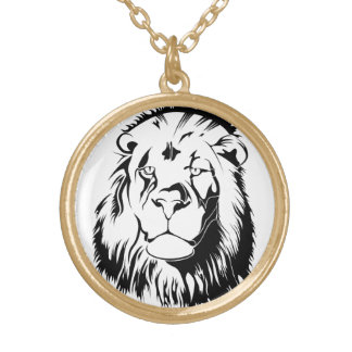 Lion Tribal 002 Gold Plated Necklace