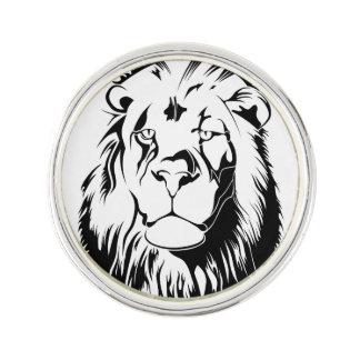 Lion Tribal 002 Lapel Pin