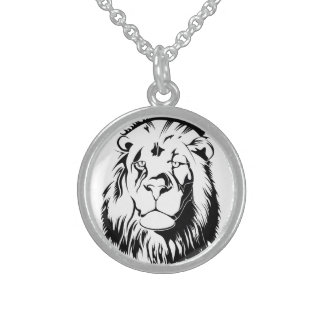 Lion Tribal 002 Sterling Silver Necklace