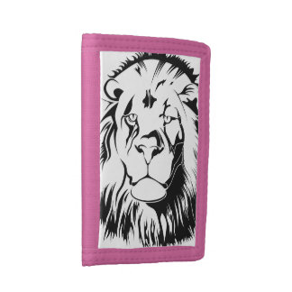 Lion Tribal 002 Trifold Wallet