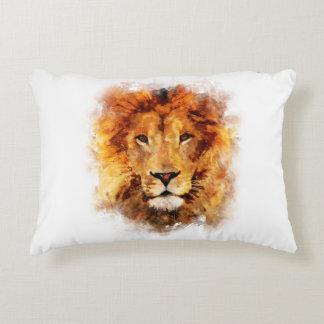 Lion Watercolor Accent Pillow