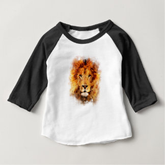 Lion Watercolor Baby T-Shirt