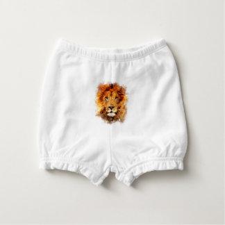 Lion Watercolor Diaper Cover
