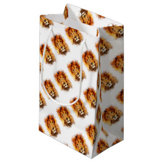 Lion Watercolor Small Gift Bag