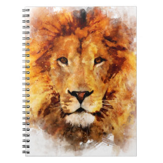 Lion Watercolor Spiral Notebooks