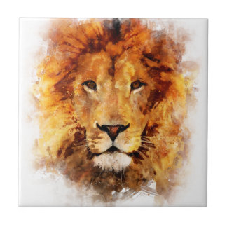 Lion Watercolor Tile