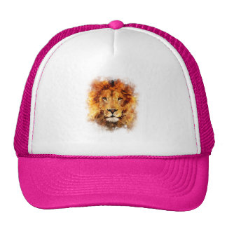 Lion Watercolor Trucker Hat